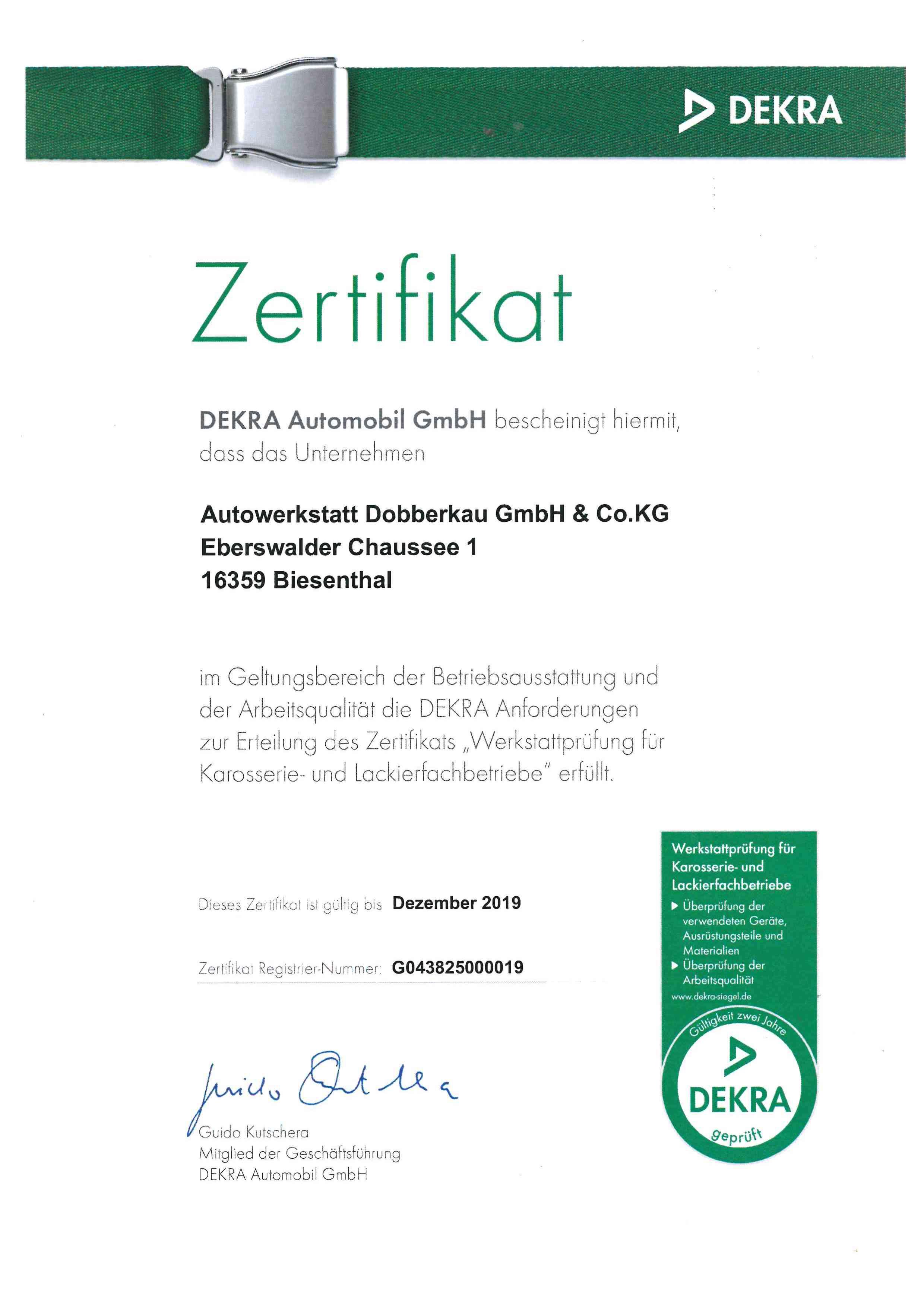 Zertifikat Dekra bis Dezember_2019